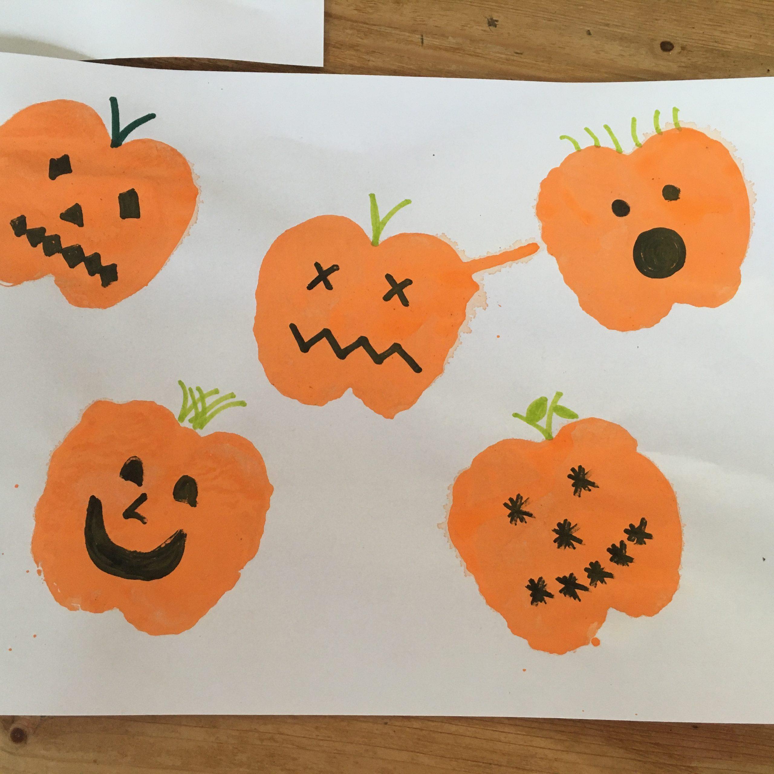 Apple Pumpkin Printing